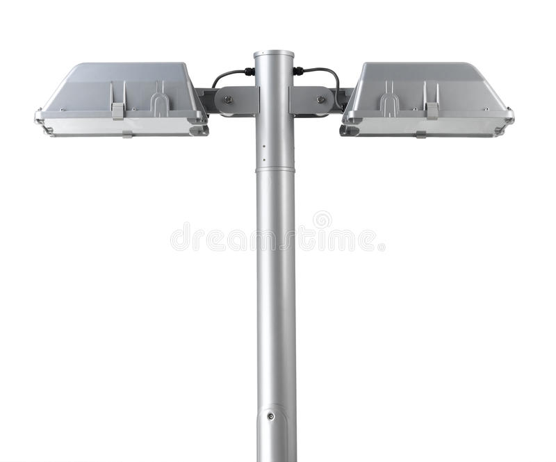 Lamppost com duas lâmpadas foto de stock