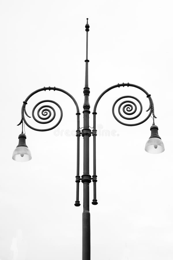 Lamppost i Florence royaltyfri foto