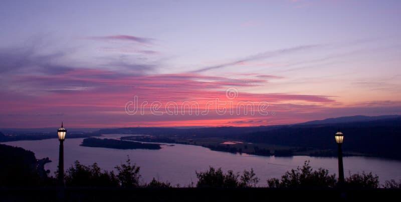 Lamppost Sunset stock image