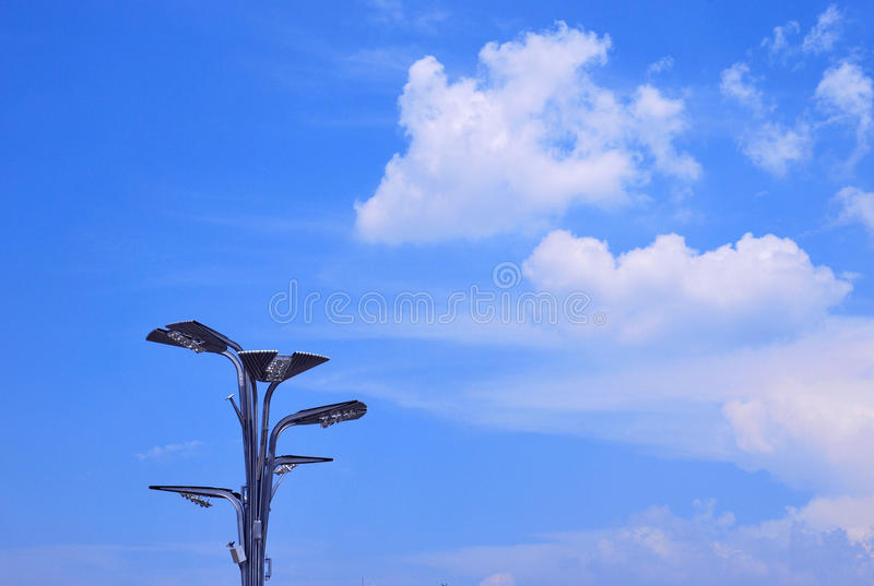 Download Lamppost Under The Blue Sky Stock Photo - Image: 18151236