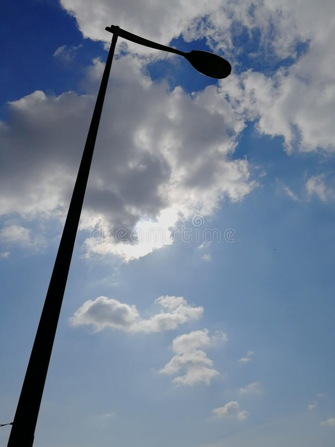 Lamppost w niebie obrazy royalty free