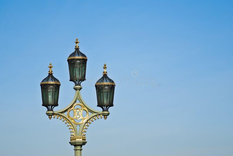 Lamppost on Westminster Bridge, London royalty free stock photos