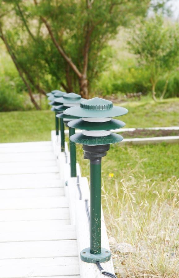 Download Lamps stock image. Image of bridge, garden, wooden, steps - 1035273