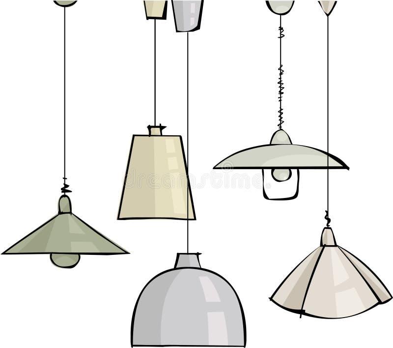 Download Lamps stock vector. Illustration of wire, illuminator - 16364925