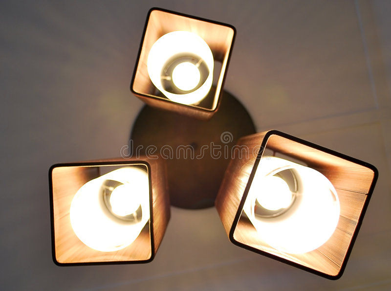 Lamps with Brown Shades royalty free stock photo