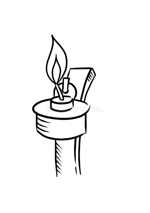 Lamps or pelita (black and white outline). Lamps or pelita. Malaysian always use it when hari raya aidilfitri stock illustration