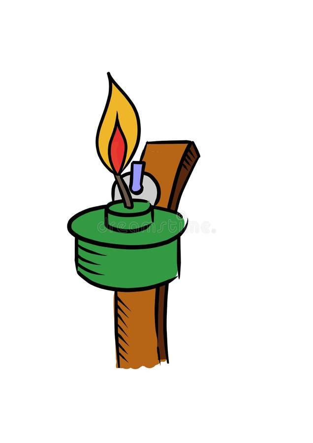 Lamps or pelita (colour version). Lamps or pelita. Malaysian always use it when hari raya aidilfitri vector illustration