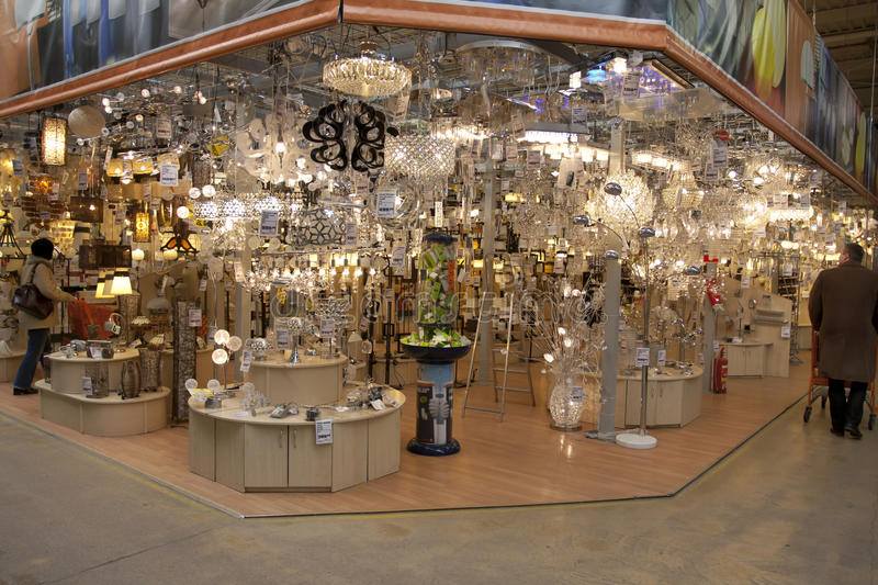 lamps in the store
