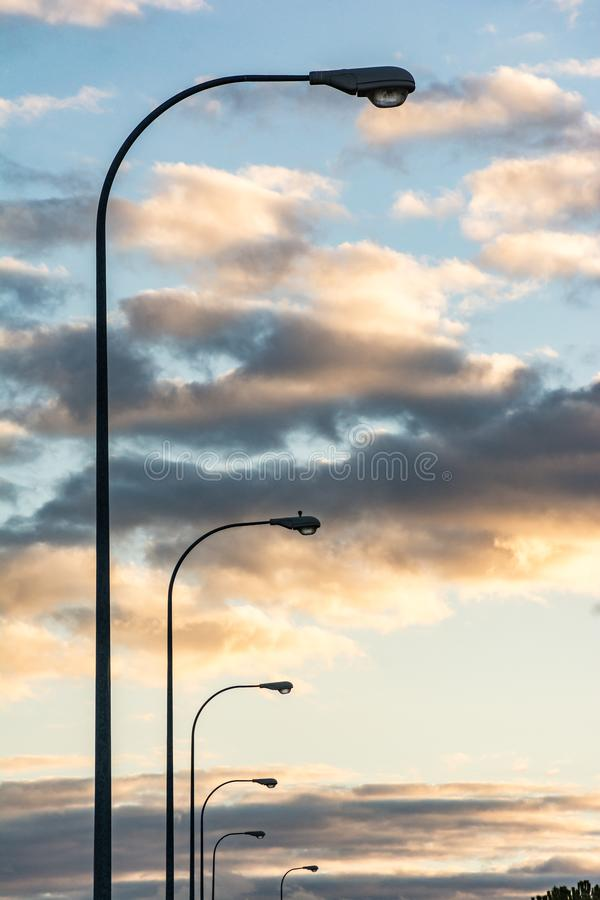 Lamps turned off due to the energy crisis.  stock photography