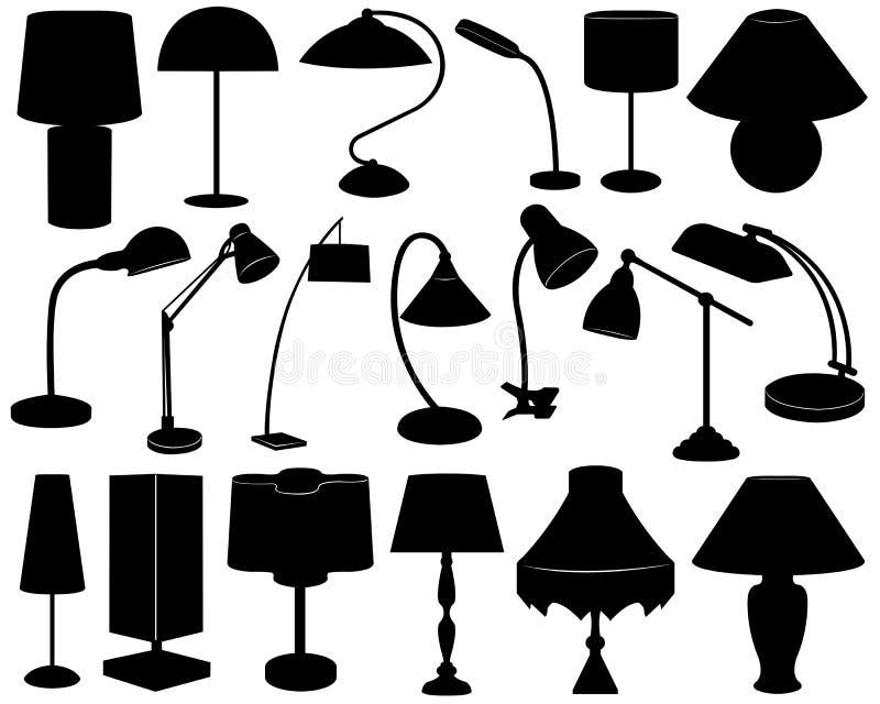LampSet vektor illustrationer