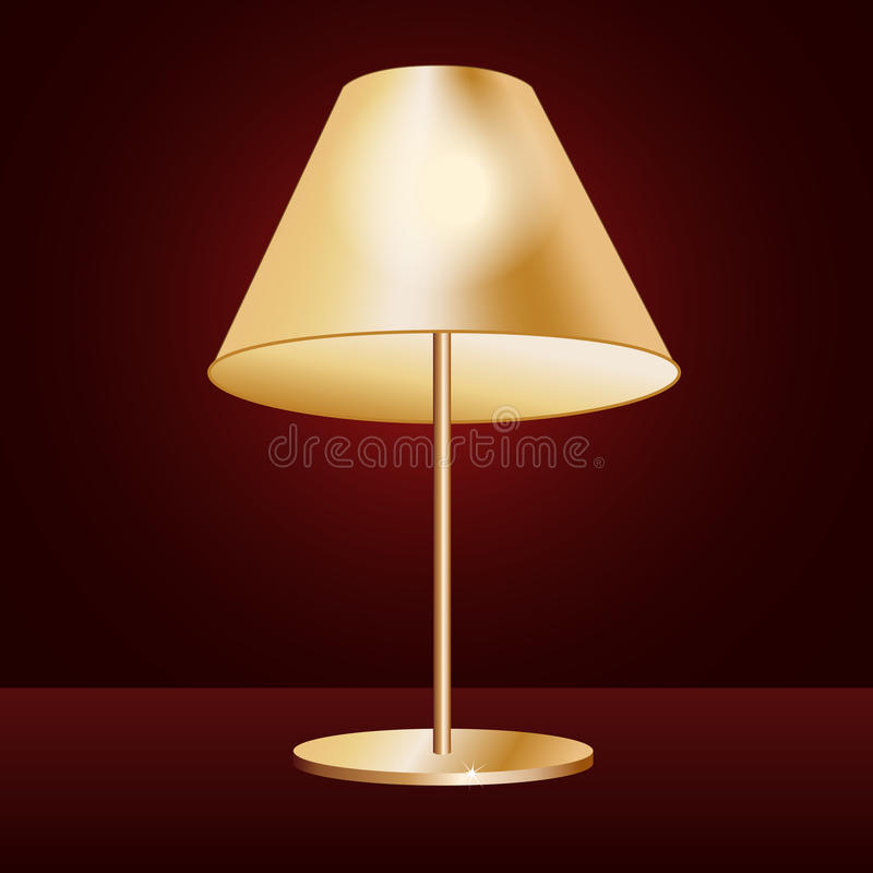 Download Lampshade stock vector. Image of indoor, decor, bulb - 25972290