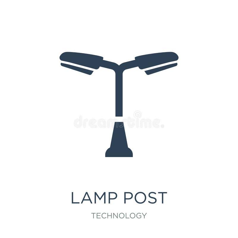 lampstolpesymbol i moderiktig designstil lampstolpesymbol som isoleras på vit bakgrund lägenhet för symbol för lampstolpevektor e royaltyfri illustrationer
