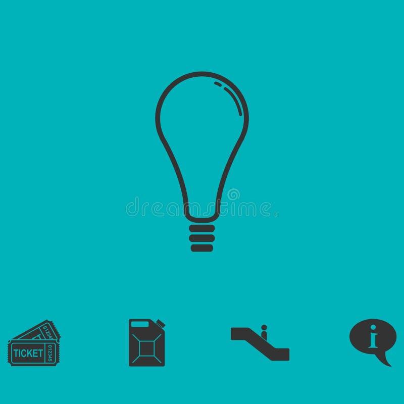 Lampsymbolslägenhet royaltyfri illustrationer