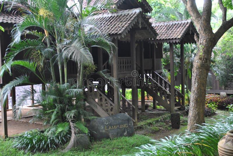 Lampung traditioneel huis in Bali royalty-vrije stock afbeeldingen