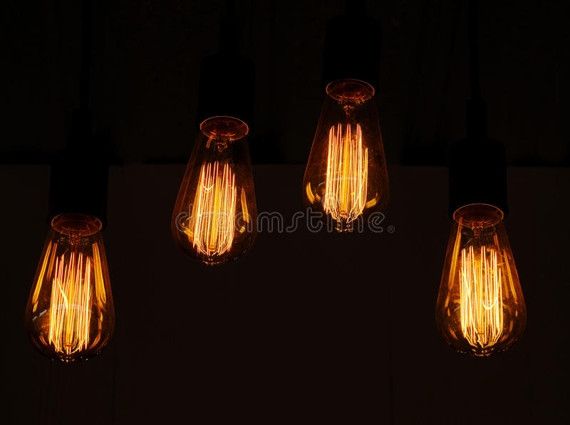 Lampy światło - pomarańczowa łuna fotografia stock