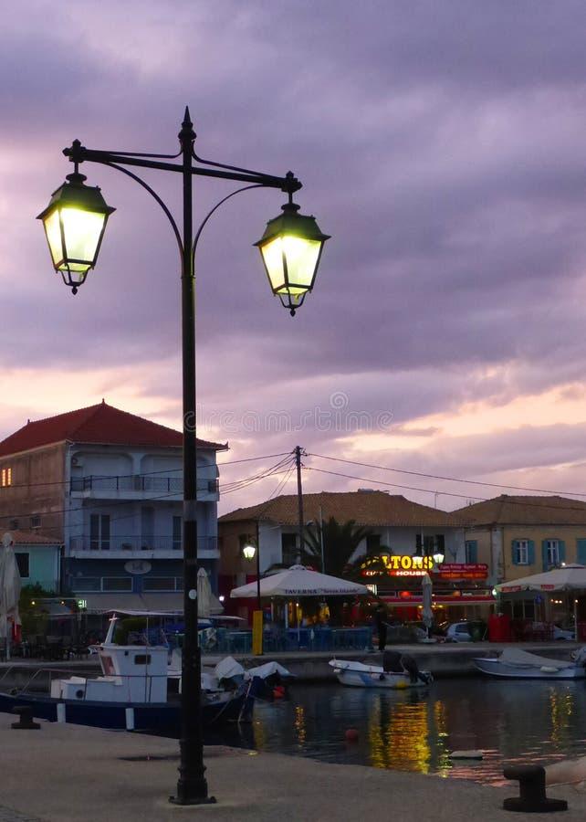 Lampy światło w wieczór zdjęcia stock