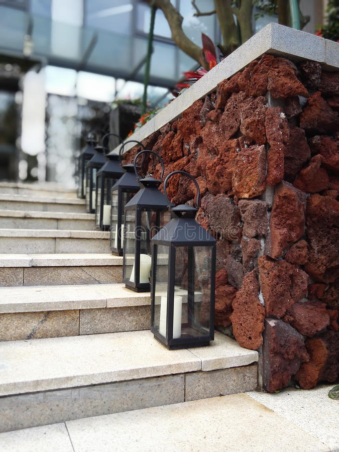 Lampy na krokach obrazy royalty free