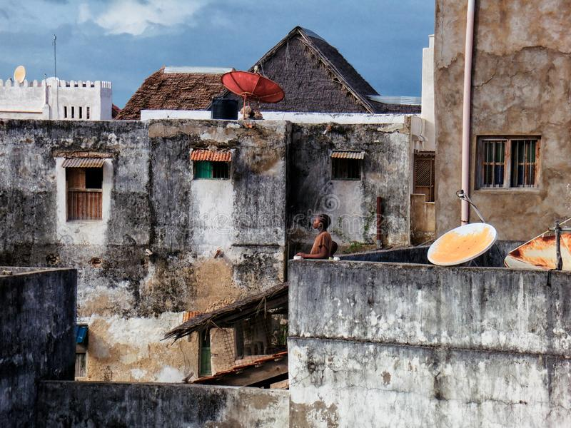 Lamu, Kenya. Urban view royalty free stock photo
