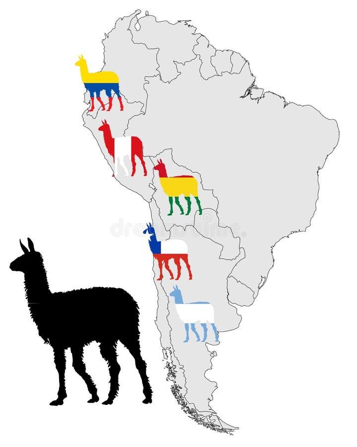 lamy mapy pasmo royalty ilustracja
