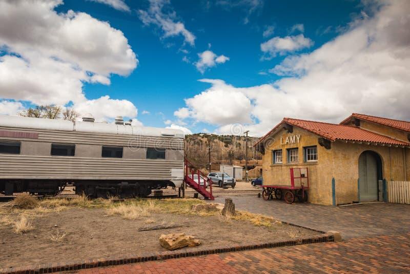 Lamy New Mexico Railway Station fotografía de archivo