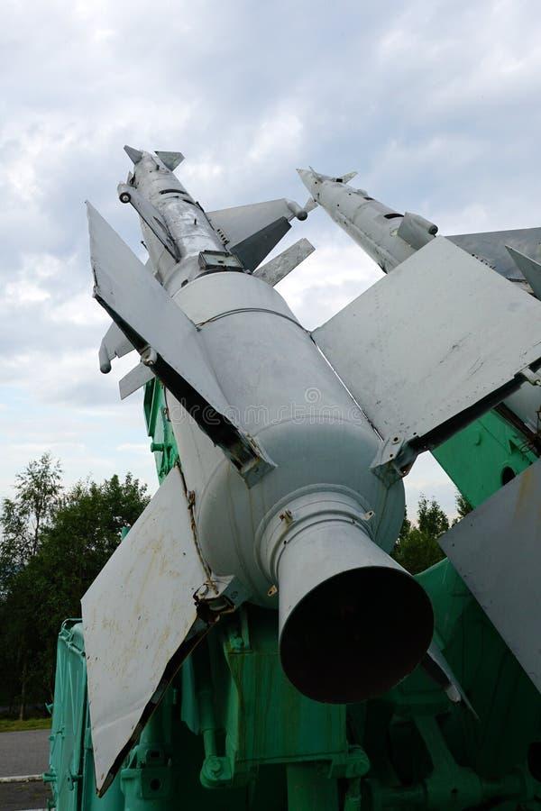 Lançador do míssil antiaéreo Soviete-feito C-125 imagens de stock