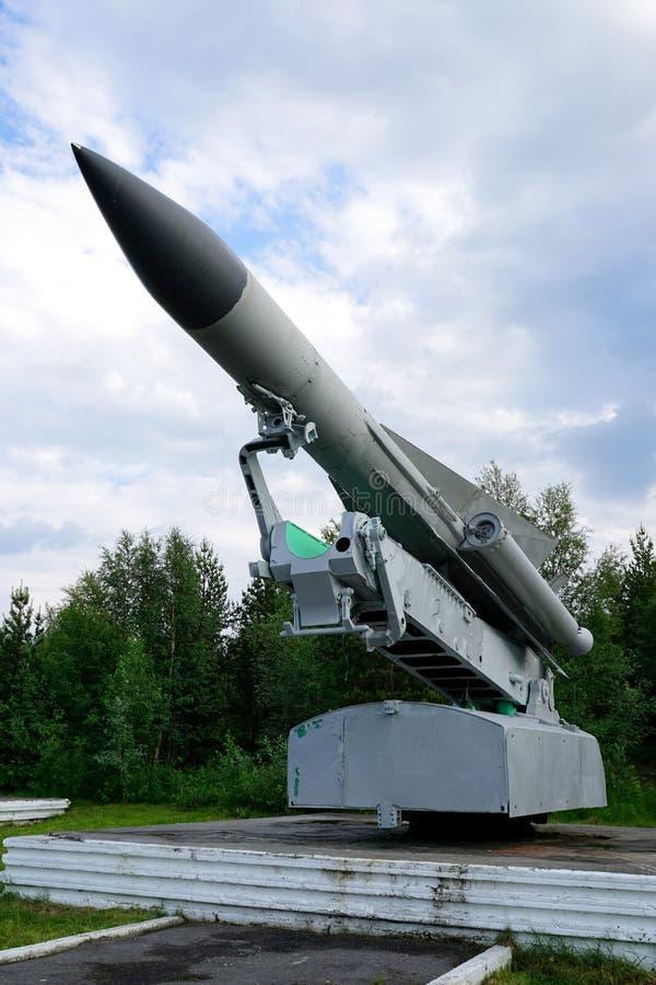 Lançador do míssil antiaéreo Soviete-feito C-200 fotos de stock royalty free