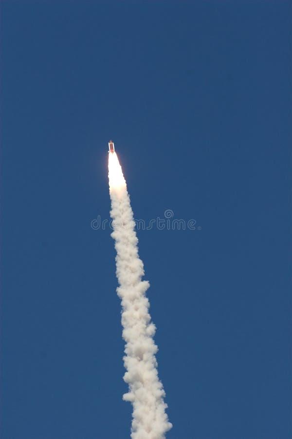 Lançamento da canela de espaço   foto de stock royalty free