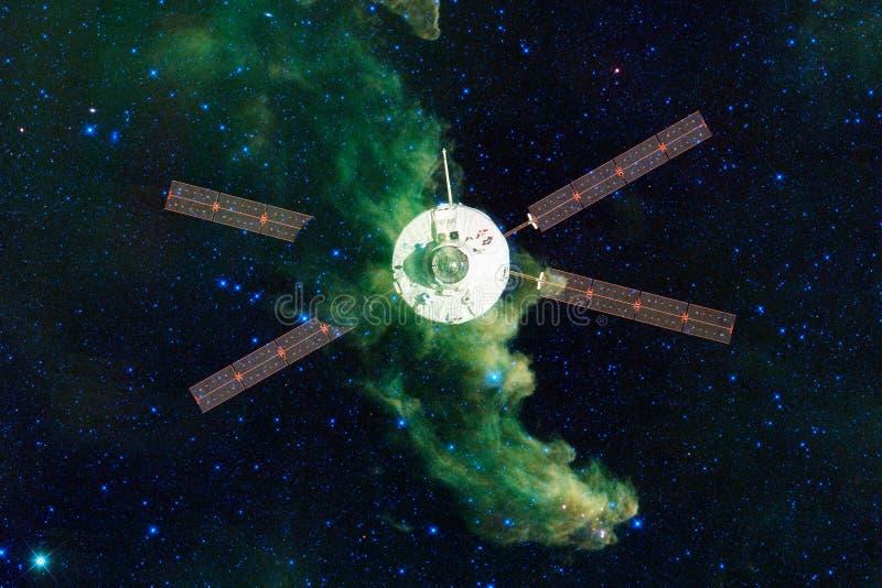 Lançamento da nave espacial no espaço Beleza do espaço ilustração royalty free