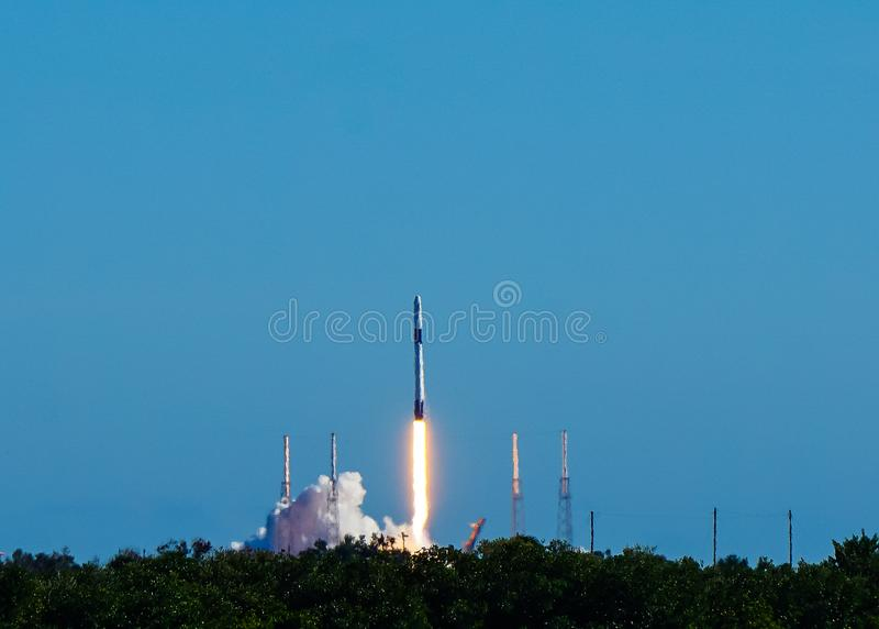 Lançamento de Rocket em Florida fotos de stock