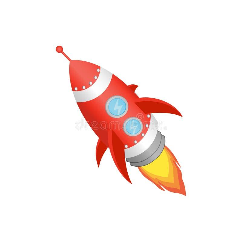 Lançamento vermelho de Rocket O projeto começa acima o conceito ilustração do vetor