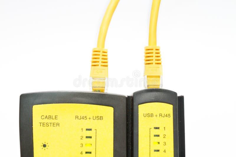 Lan和USB缆绳测试器 免版税库存图片