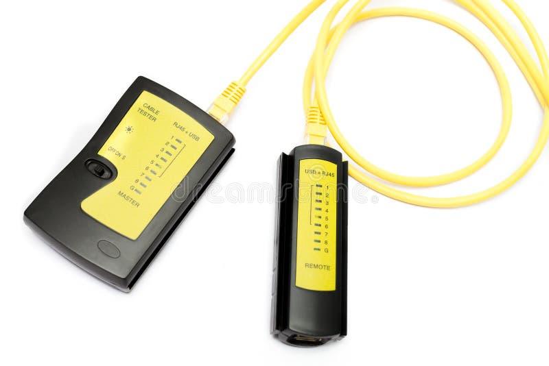 Lan和USB缆绳测试器 免版税图库摄影
