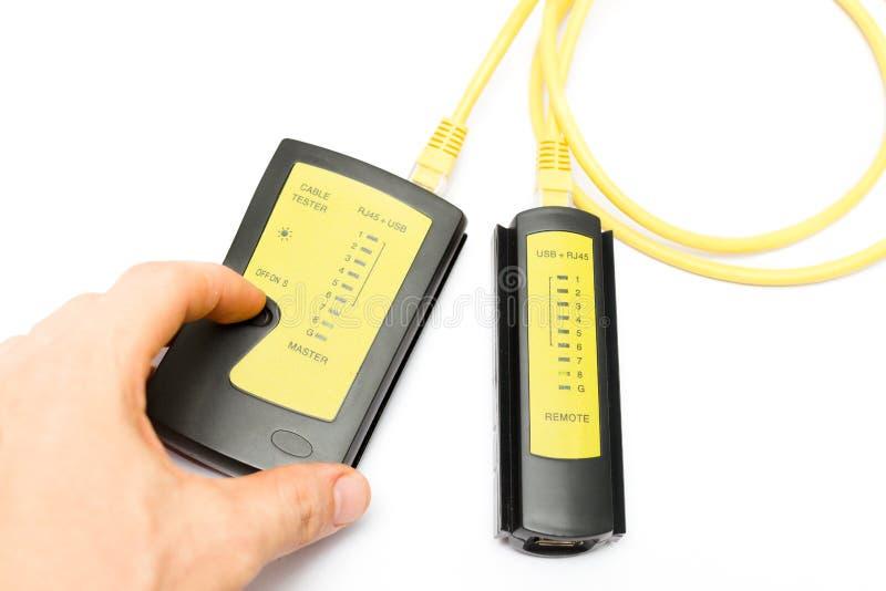 Lan和USB缆绳测试器 库存照片