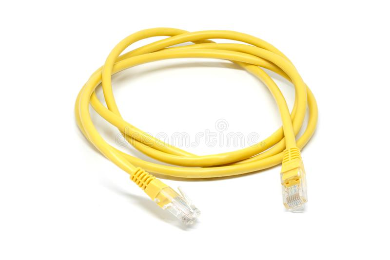 LAN cable closeup detail object stock photography