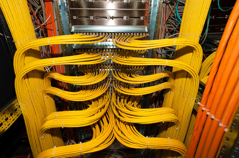 It Lan Cable Connection Redundancy In A Datacenter Stock