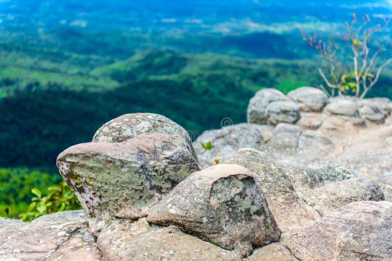 Lan Hin Pum (естественное явление) на PA Phu Hin Rong Kla национальном стоковая фотография rf
