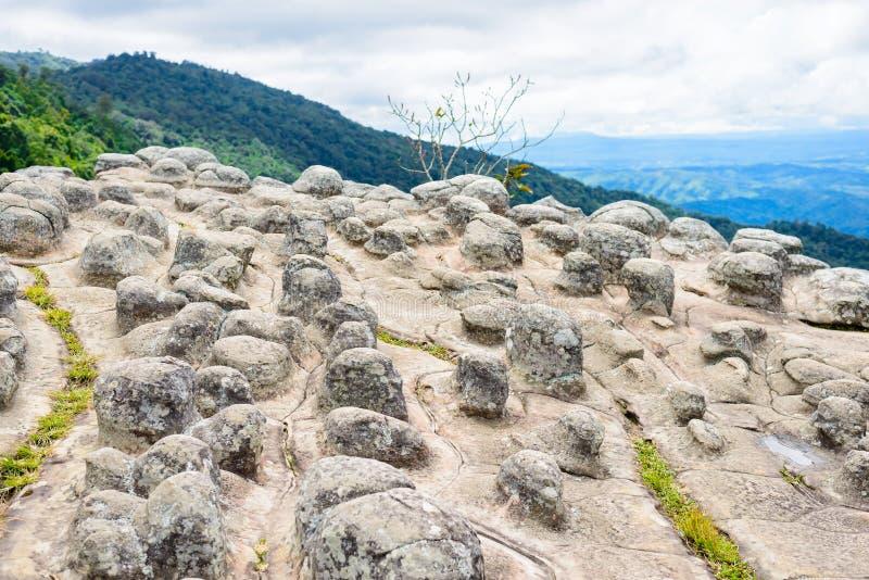 Lan Hin Pum (естественное явление) на PA Phu Hin Rong Kla национальном стоковое фото rf