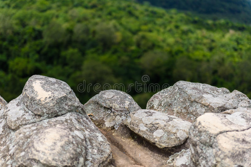 Lan Hin Pum (естественное явление) на PA Phu Hin Rong Kla национальном стоковые фото