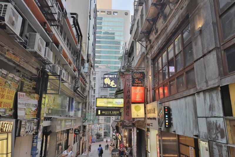 Lan Kwai Fong do distrito HK do partido imagens de stock royalty free