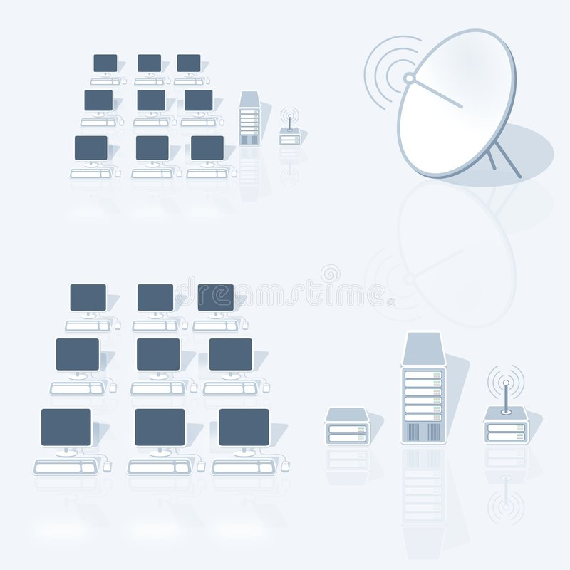 Lan Netwerk stock illustratie