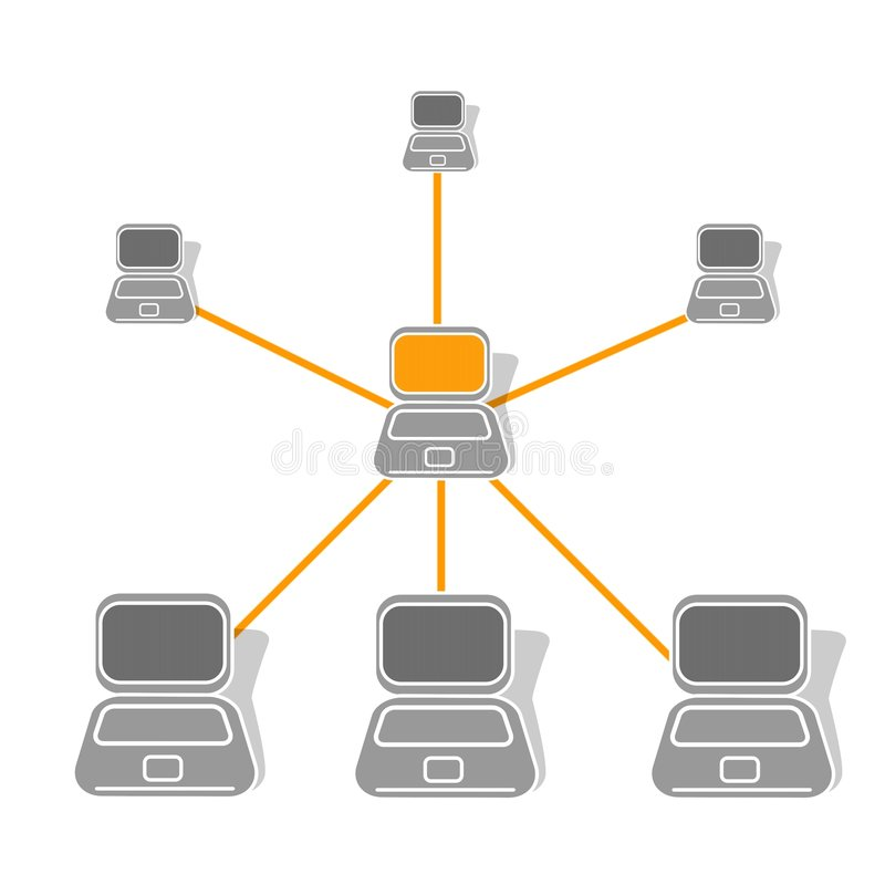 Lan-Netz lizenzfreie abbildung