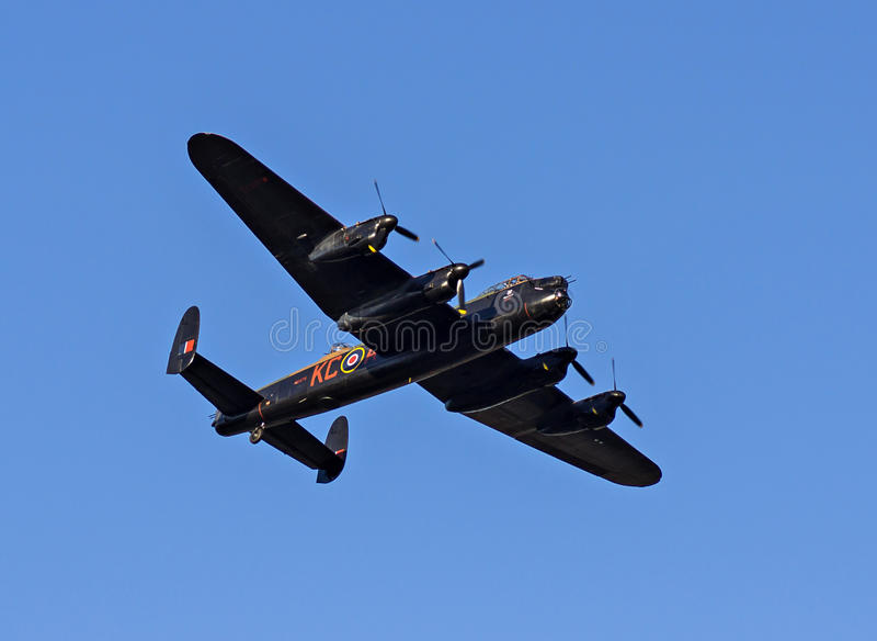 Lanacster bombplan PA474 royaltyfri foto