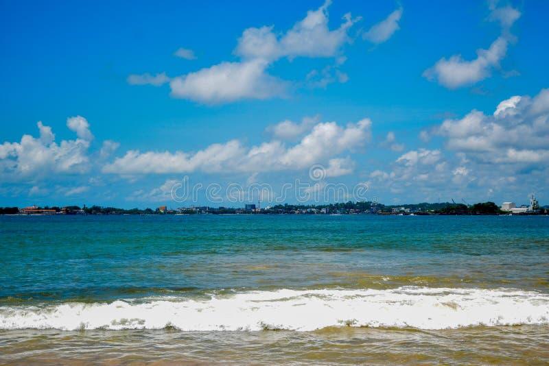 Lanaka variopinto di Sri del cielo e del mare fotografia stock libera da diritti