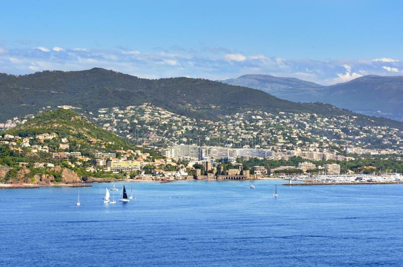 LaNapoule kust, söder av Frankrike arkivbild