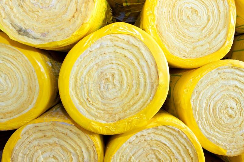 Lanas de cristal amarillas foto de archivo