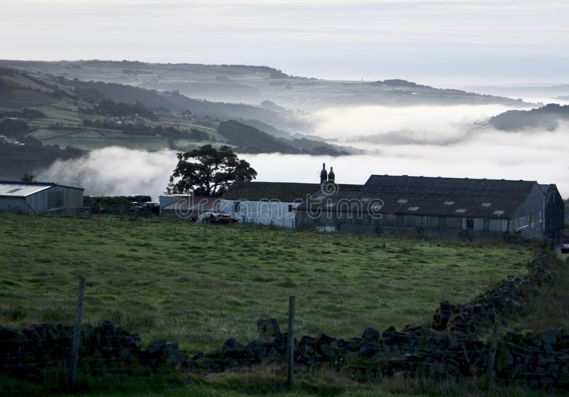 Lancashire attracca all'alba fotografia stock
