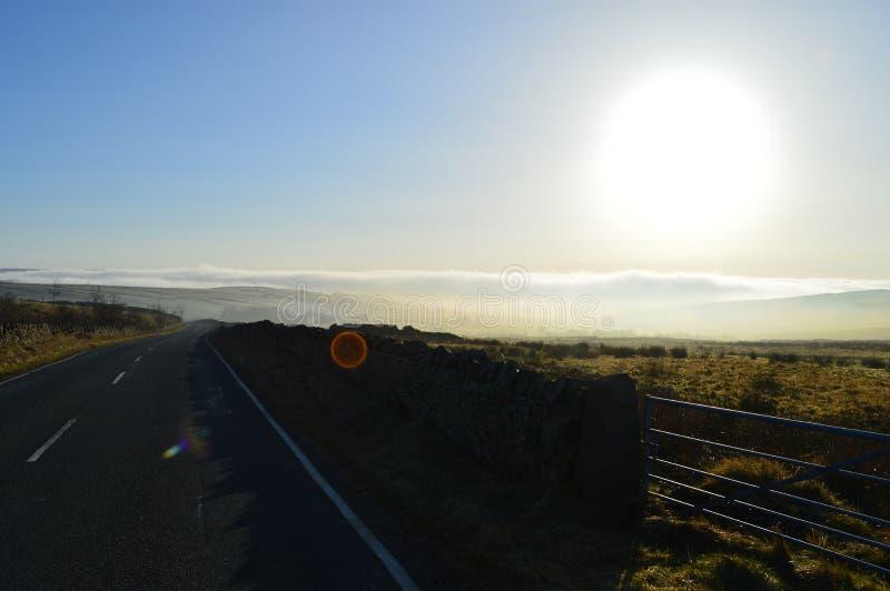 Lancashire attracca all'alba fotografie stock libere da diritti