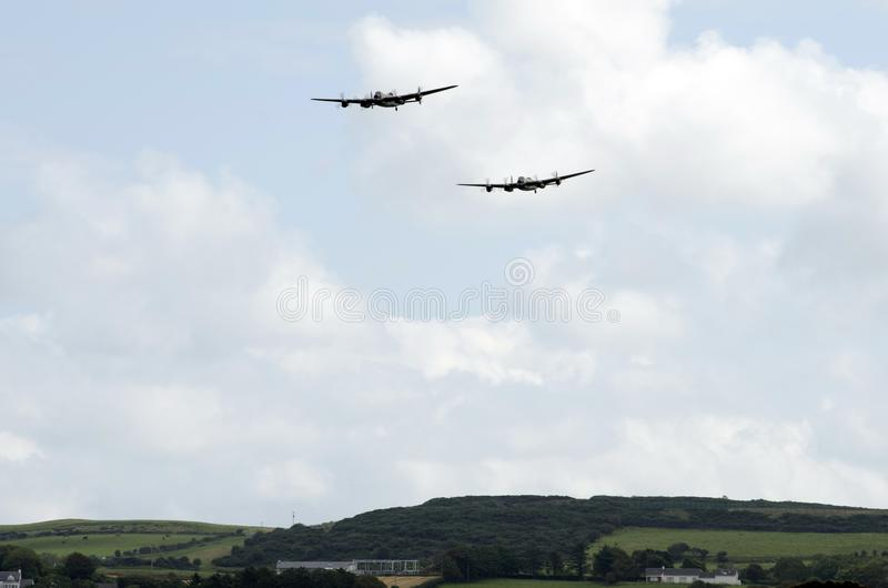 Lancaster-Bomber aproach Bildschirmbereich stockbilder