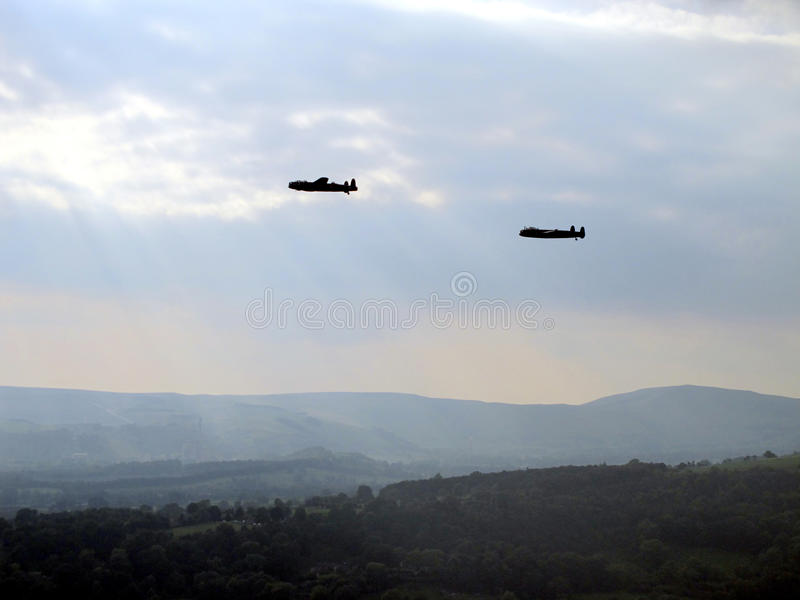Lancaster Bombers. stock images