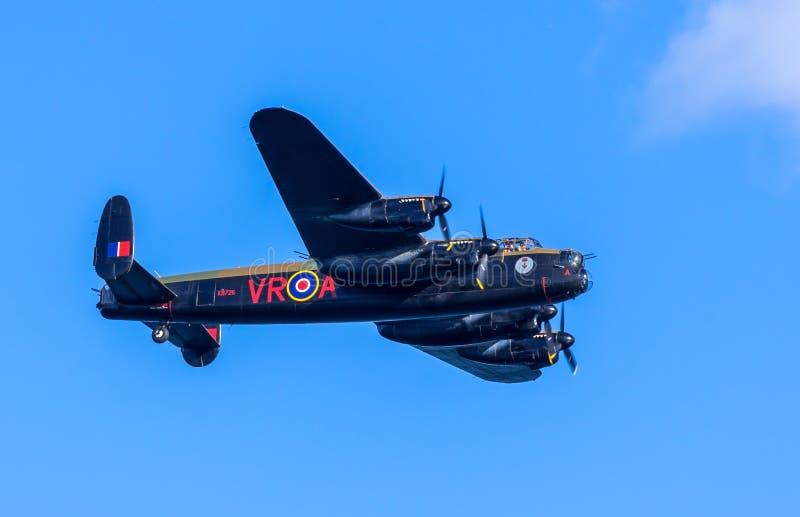 Lancaster bombplan CG-VRA fotografering för bildbyråer